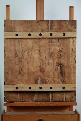 Giulio Romano, traverse mobili sul verso per contenere dimamicamente i movimenti del legno