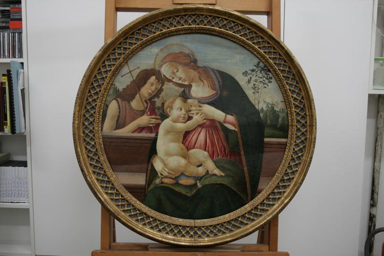 Botticelli-Madonna-con-Bambino-prima-cornice